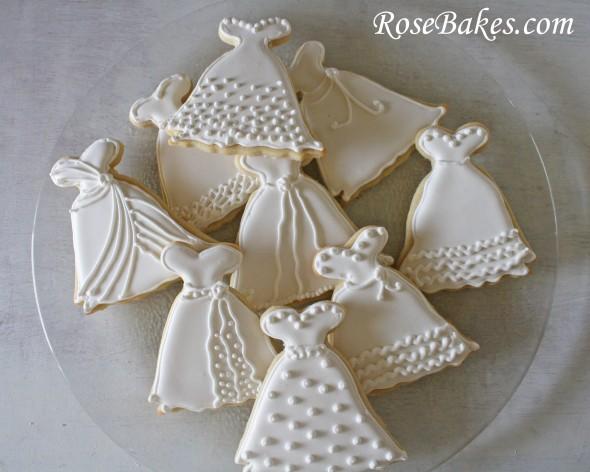 Wedding-Dress-Cookies-on-Platter-590x472