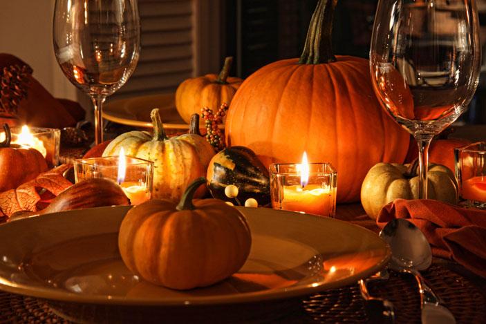 小物は秋の食べ物で飾りましょう